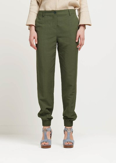 Jane trousers with zipper at the bottom