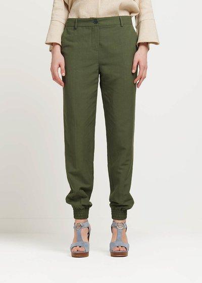 Pantalone Jane con zip al fondo