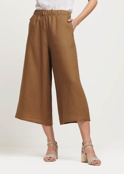 Megan linen capri trousers