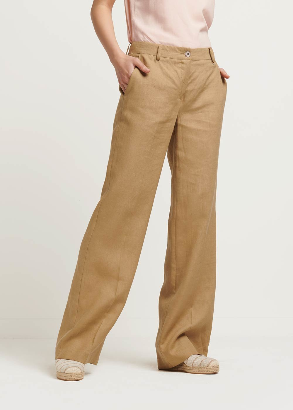 Giorgia linen trousers - Beige - Woman