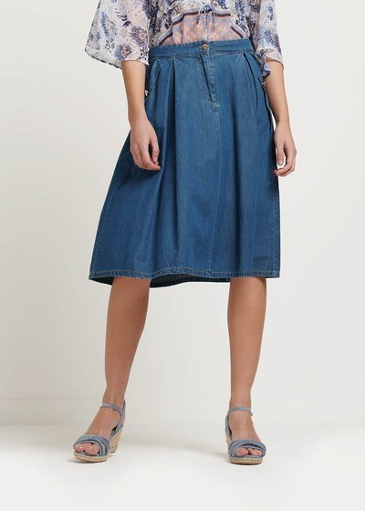 Glenda denim cotton skirt