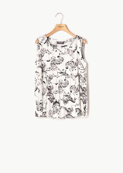 Ted top with zebra print