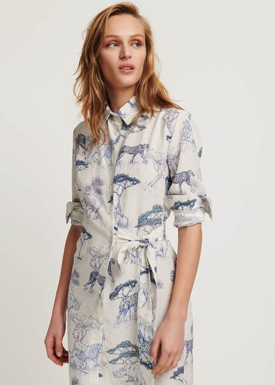 Camy shirtdress with savannah print