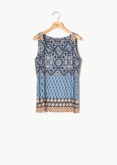 Rita sleeveless patterned top
