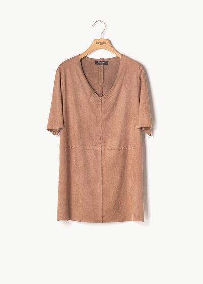 T-shirt Sharil eco camoscio effetto alcantara