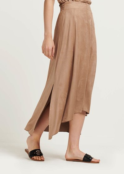 Gabi faux-suede skirt with alcantara effect