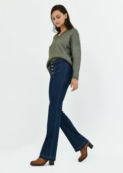 Victoria wide-leg denims