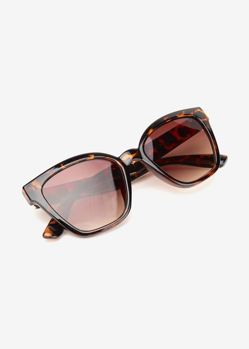 Square tortoiseshell glasses - Animalier - Woman