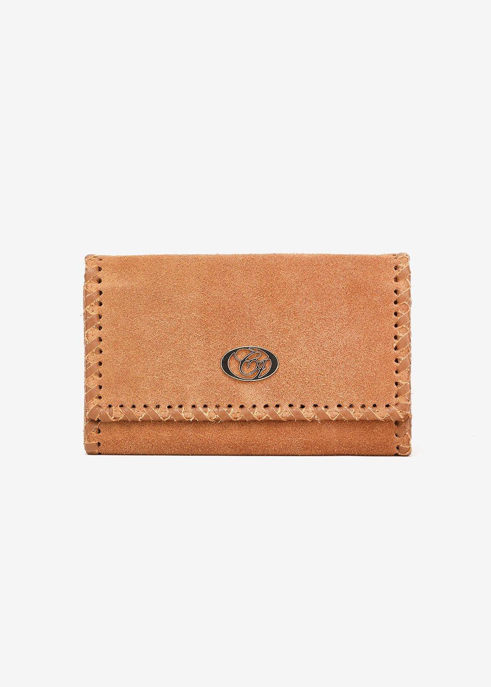 Pako suede wallet - Brown - Woman
