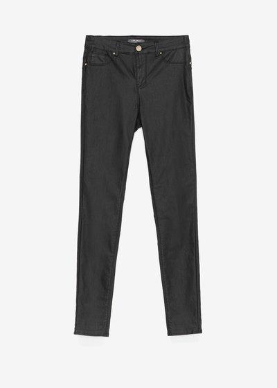 Pantalone Portos skinny fake pelle