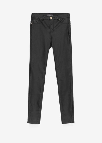 Skinny faux-leather trousers