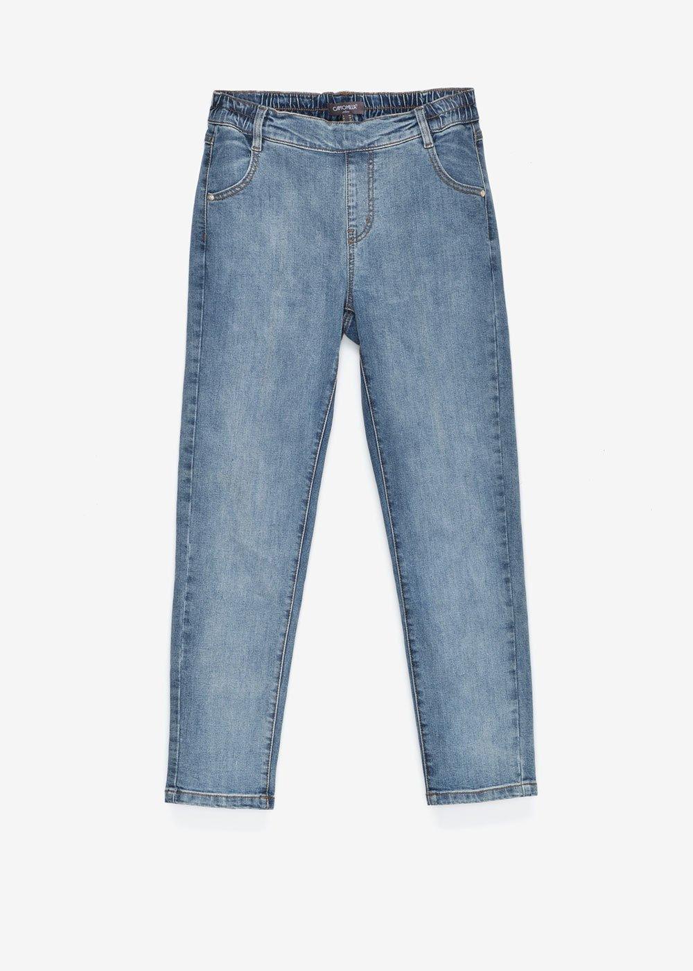 Pantalone jeggings Doris con elastico sul restro - Medium Denim - Donna