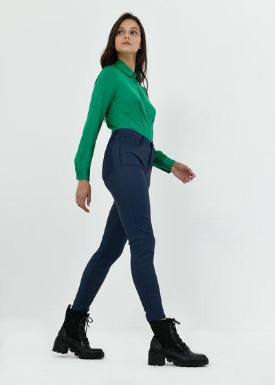 Pantalone Pearl skinny effetto fake leather