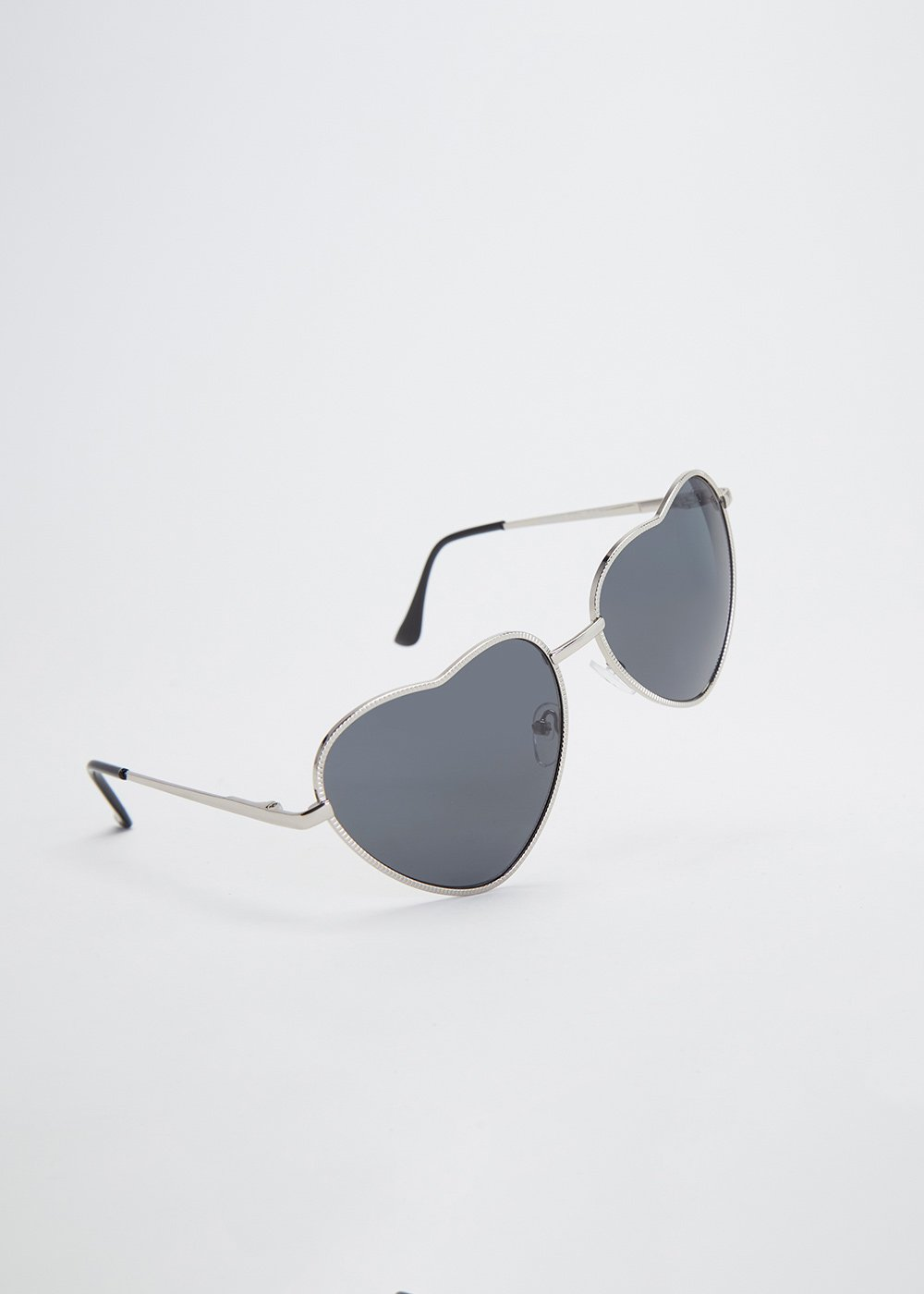 Heart-shaped sunglasses - Grey - Woman