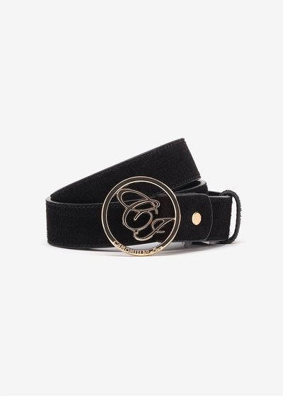 Candys suede belt with CI logo