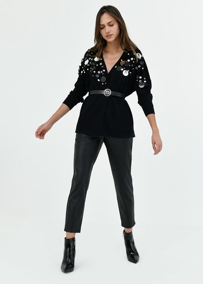 Cassy cardigan with maxi sequins