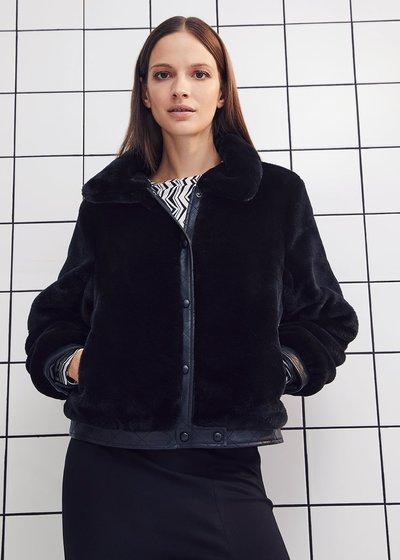 Glyn faux-fur jacket