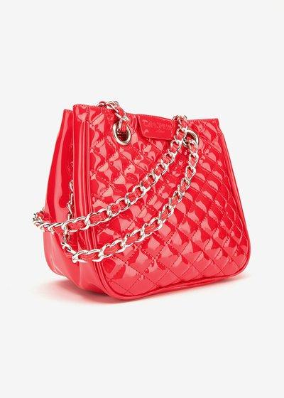 Mini Camo girl patent-leather shopping bag