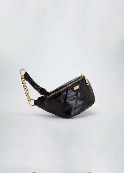 Micki patent faux-leather bumbag