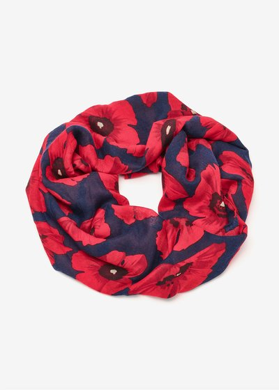 Soleh scarf with maxi flowers