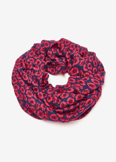 Synke scarf with micro flowers