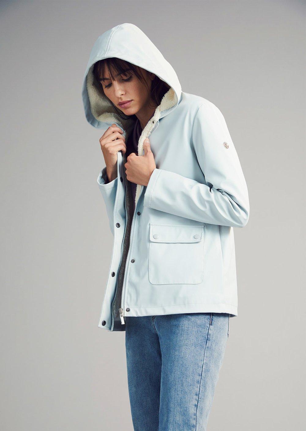 Gareth jacket with inner fur - Ice - Woman