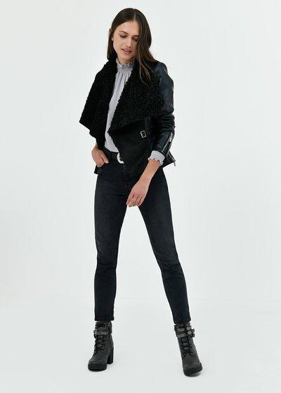 Greg faux-leather jacket