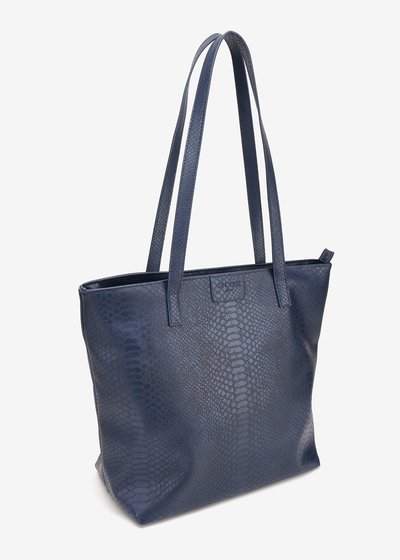 Badia shopping bag with python print