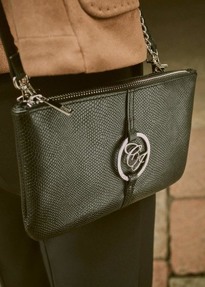 Tonga shoulder bag with python print