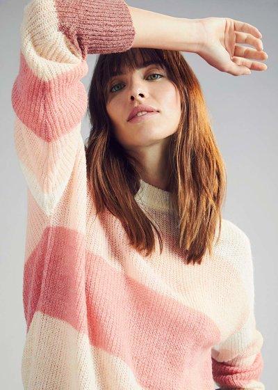 Multicolour striped sweater