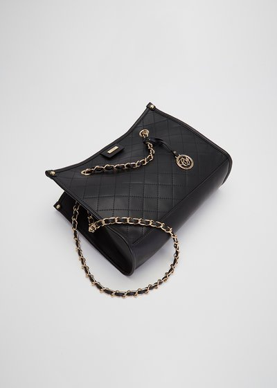 Berta quilted shopping bag