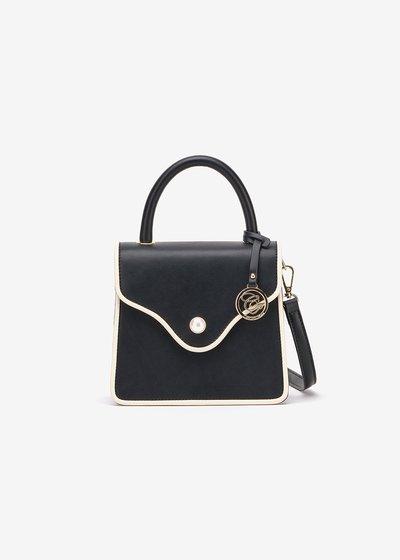 Brandy clutch bag with shoulder strap