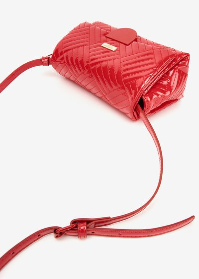 Bonny quilted patent-leather clutch bag