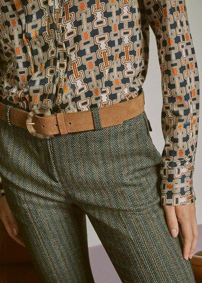Cintura Caryn con fibbia maculata