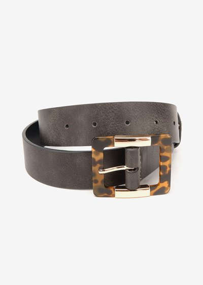 Crys belt with animal-printed buckle