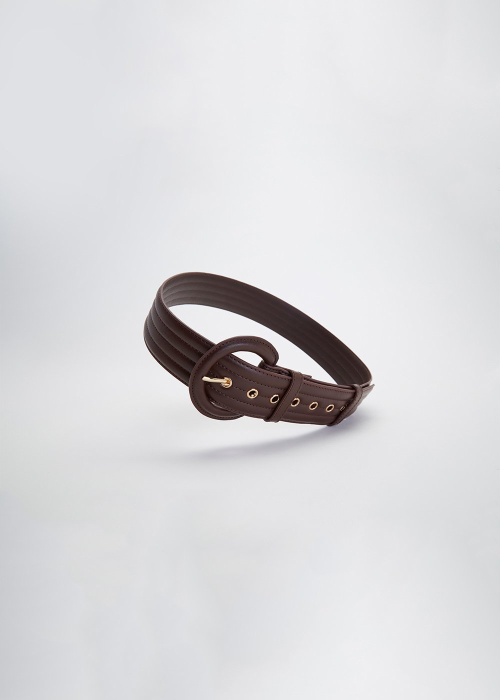 Clay quilted belt - Cocoa - Woman
