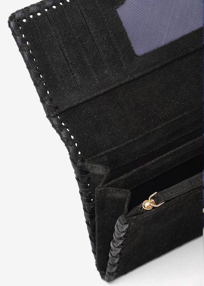 Pablo faux-suede wallet