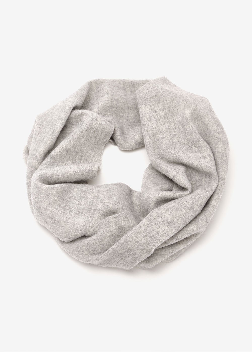 Shaky scarf with fringes - Light Grey - Woman