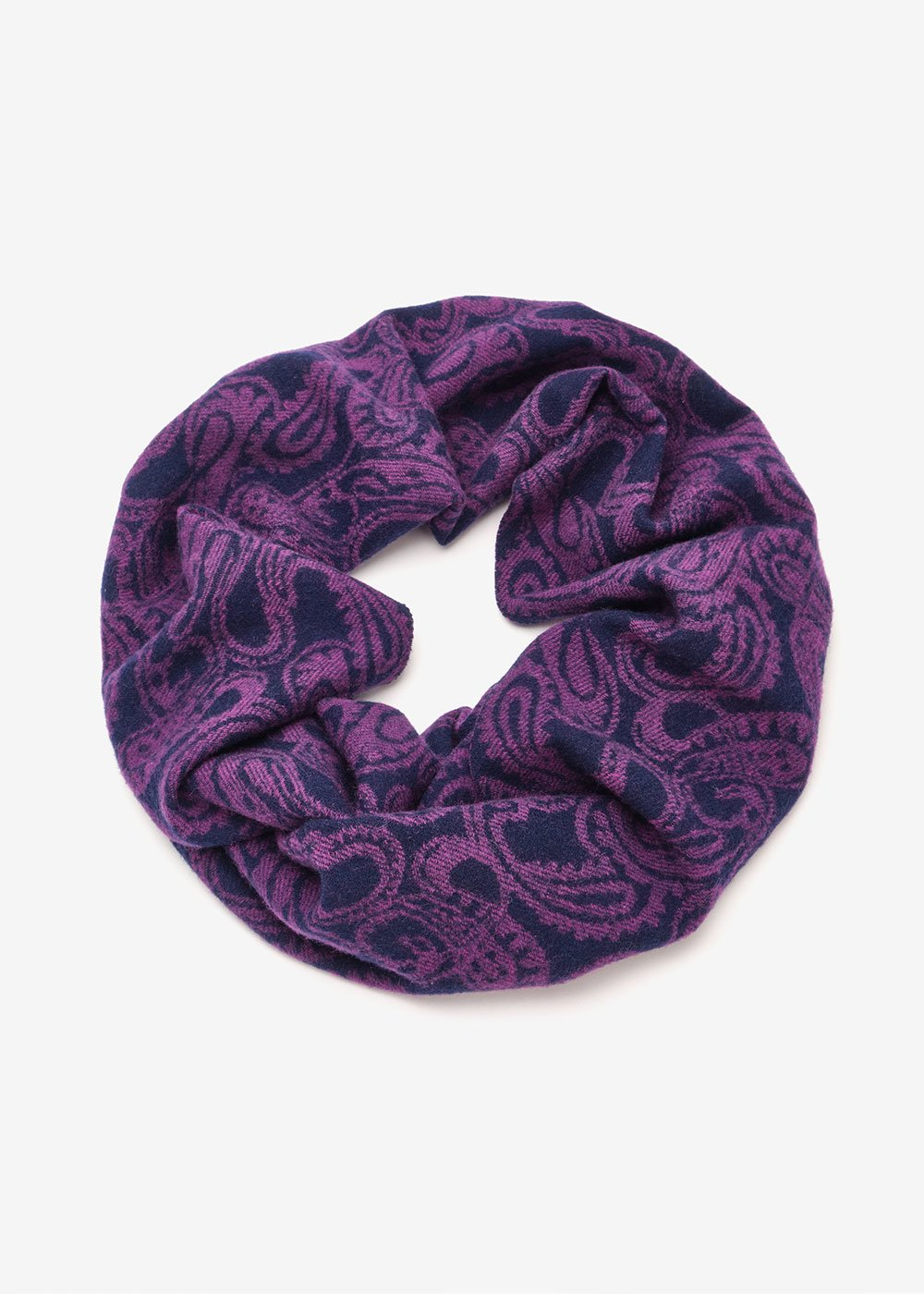 Storm scarf with cashmere print - Red Multi - Woman