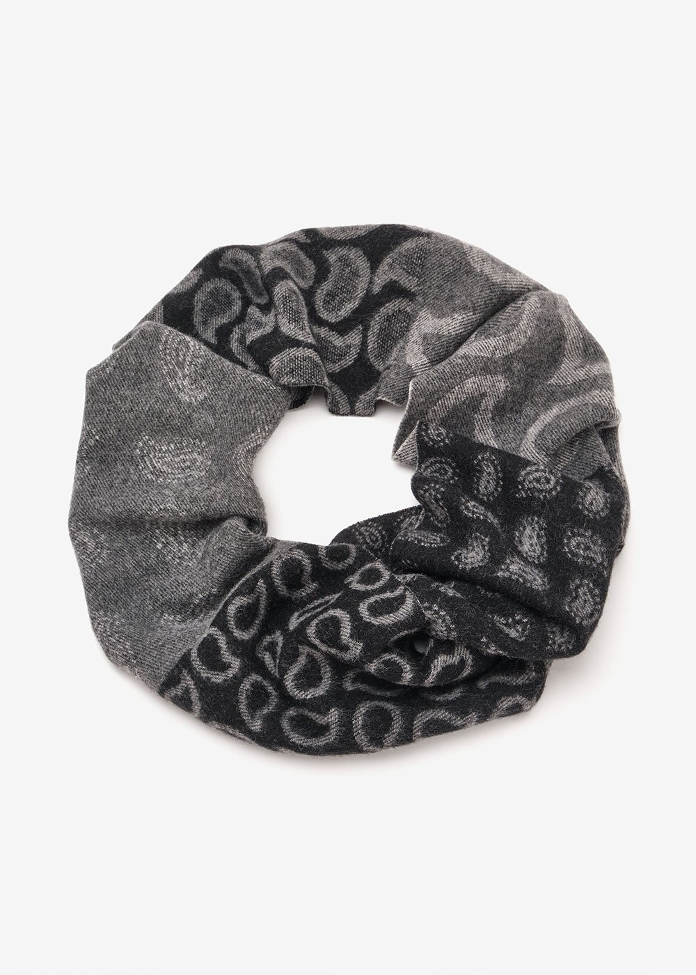 Stacee patterned scarf - Black  / Grey Multi - Woman