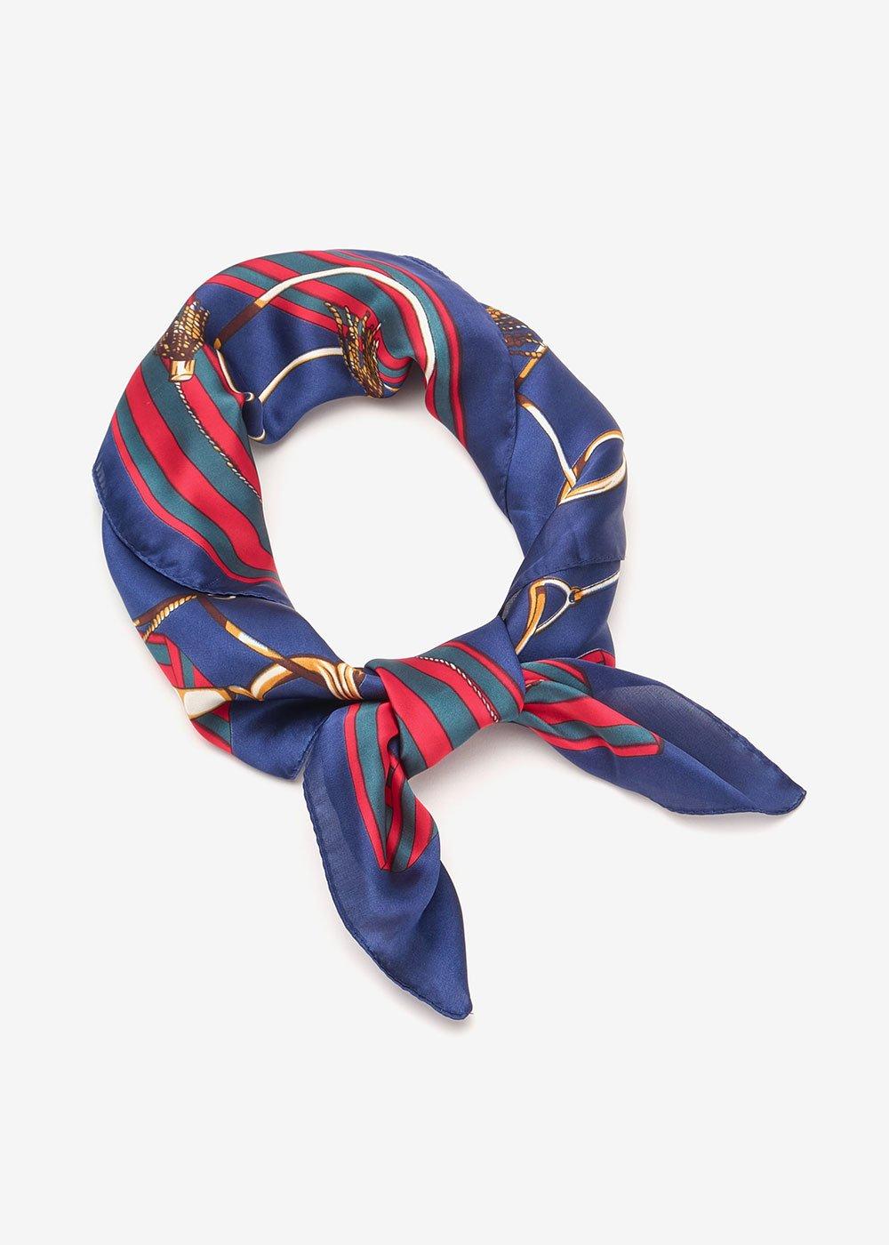 Sherlyn foulard with chain print - Red Blue Multi - Woman