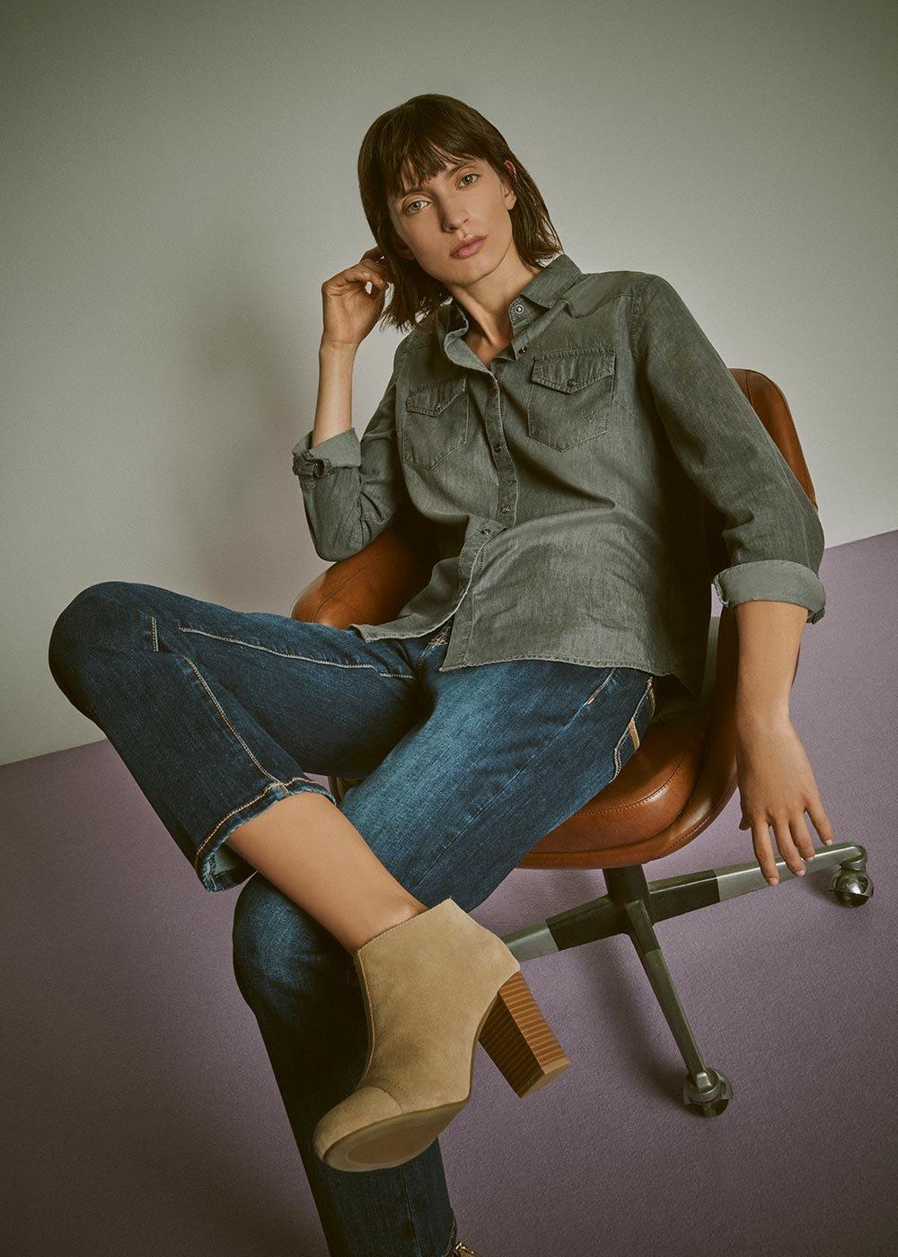 Cristy denim shirt - Grey - Woman