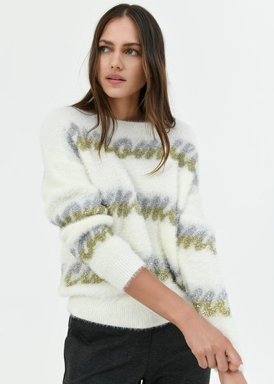 Maddy fur-effect sweater