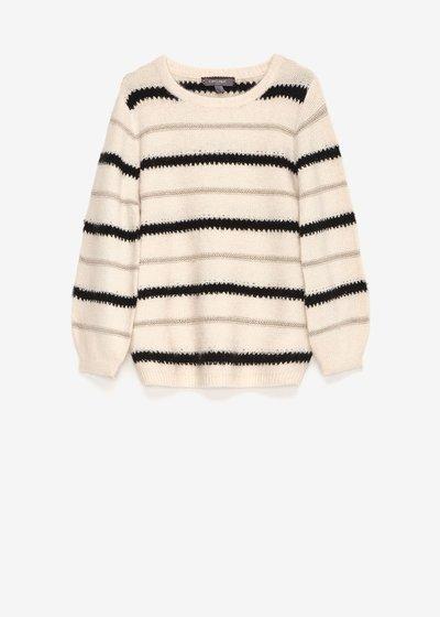 Mia round-neck striped sweater