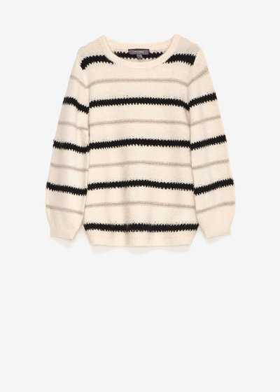 Mia round-neck striped sweater