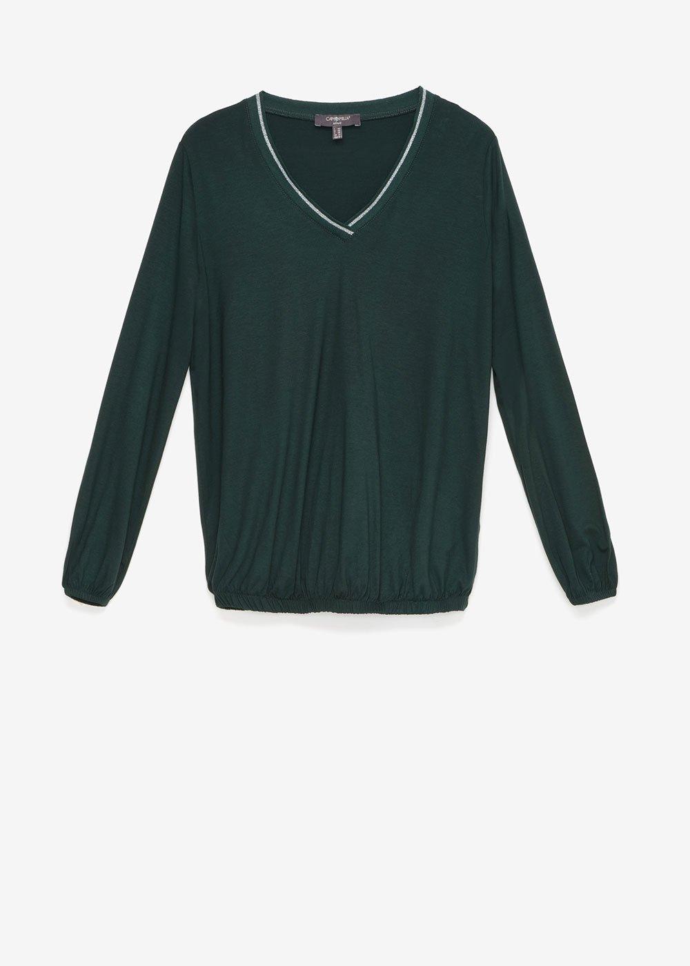 Serena V-neck t-shirt - Muschio - Woman