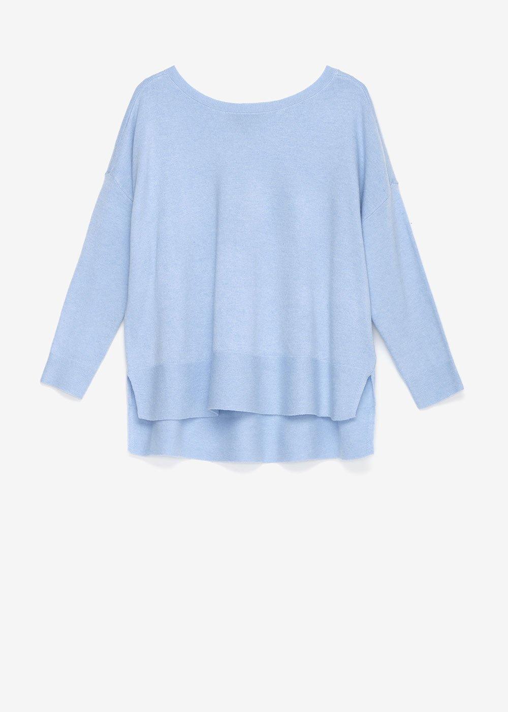 Medel asymmetric sweater - Fog - Woman