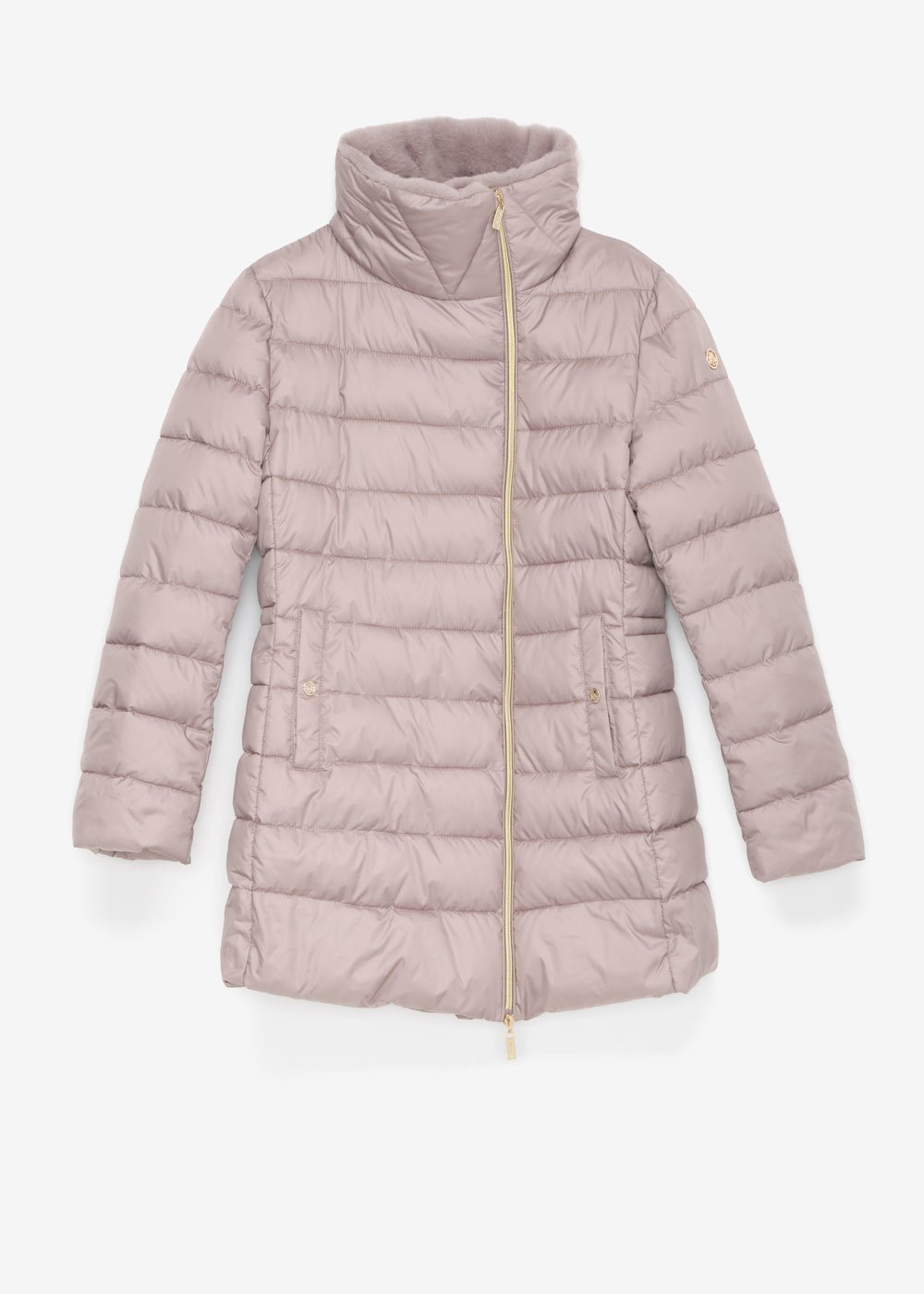 Pago down jacket with hood - Pearl - Woman