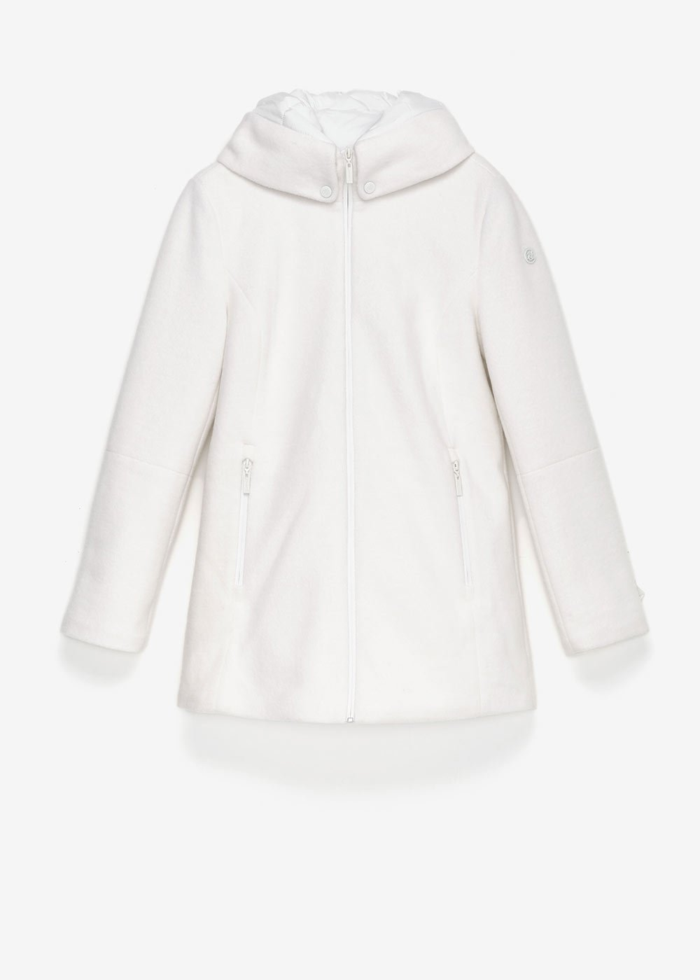 Park down jacket with hood - Chalk - Woman