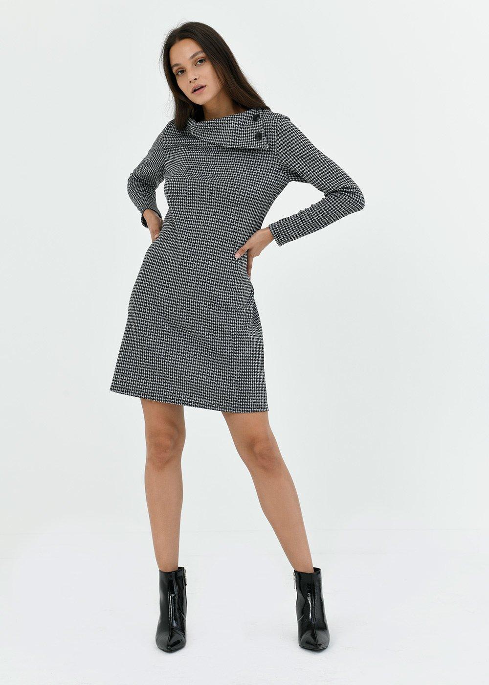 Arold jacquard dress - Black  / Grey Multi - Woman